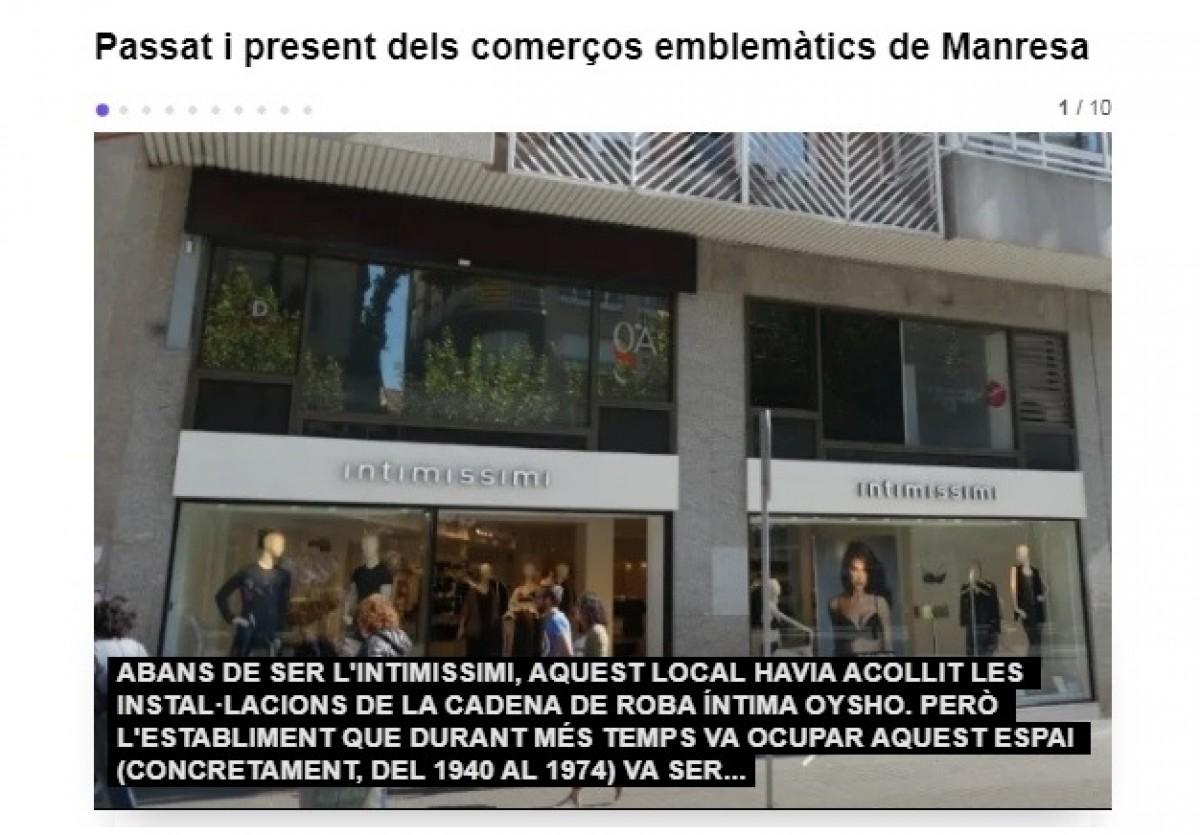 Què en saps del passat i el present dels comerços emblemàtics de Manresa?