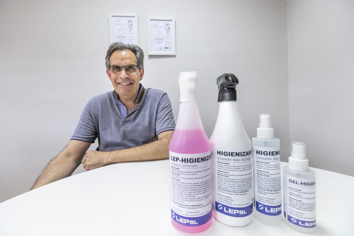 El creador del líquid desinfectant, Jordi Bosch