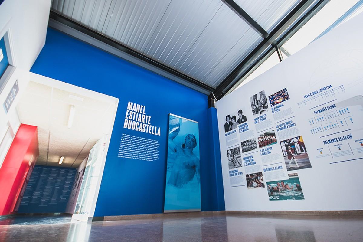 Exposició permanent sobre Manel Estiarte a la piscina de Manresa