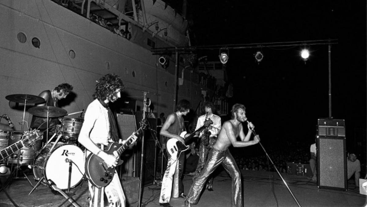 Johnny Hallyday a Port Barcarès 1969. Fotografia utilitzada a la portada del disc