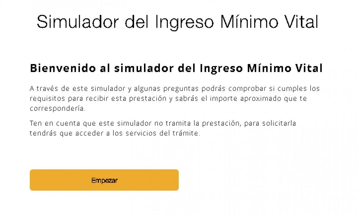 El simulador de l'Ingrés Mínim Vital