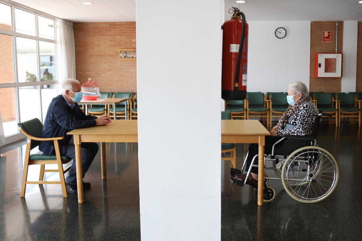 Ángel Muñoz visita la seva dona Anna Vilaseca després de mesos sense poder veure's de prop