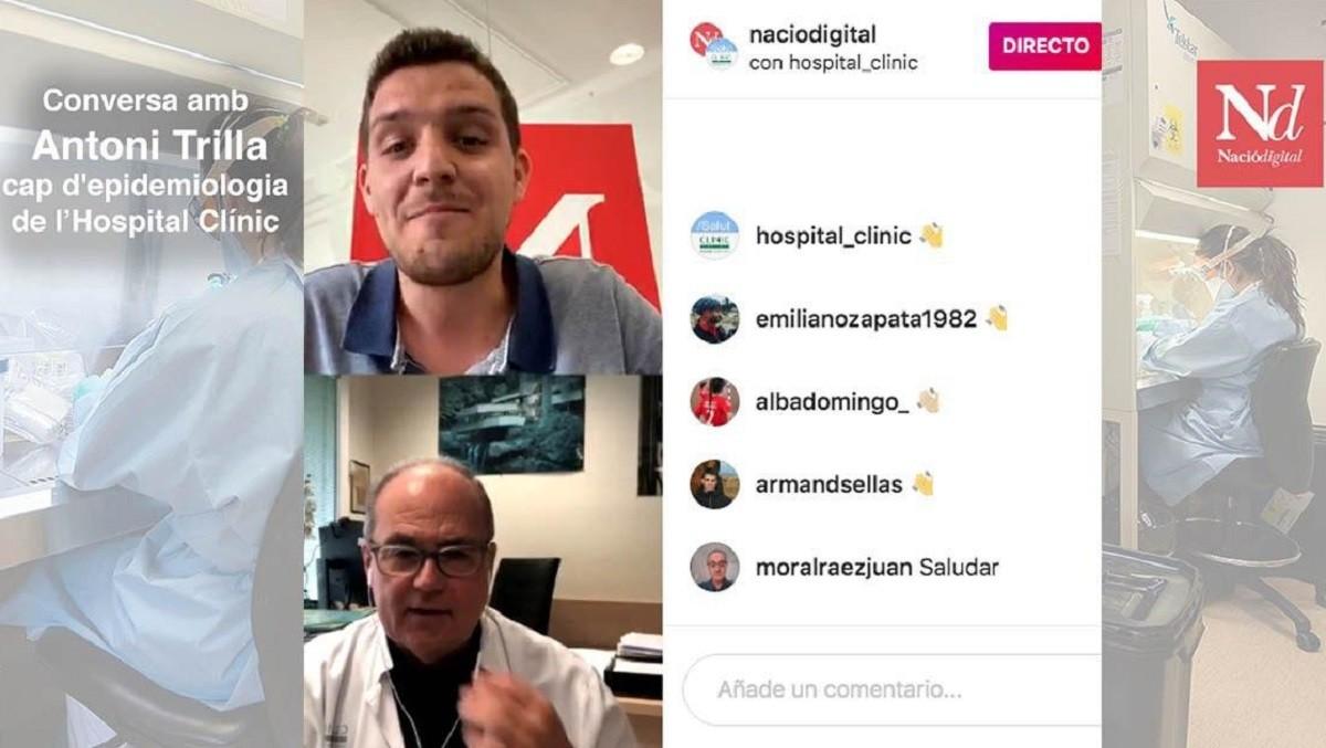 Instagram Live amb Antoni Trilla.