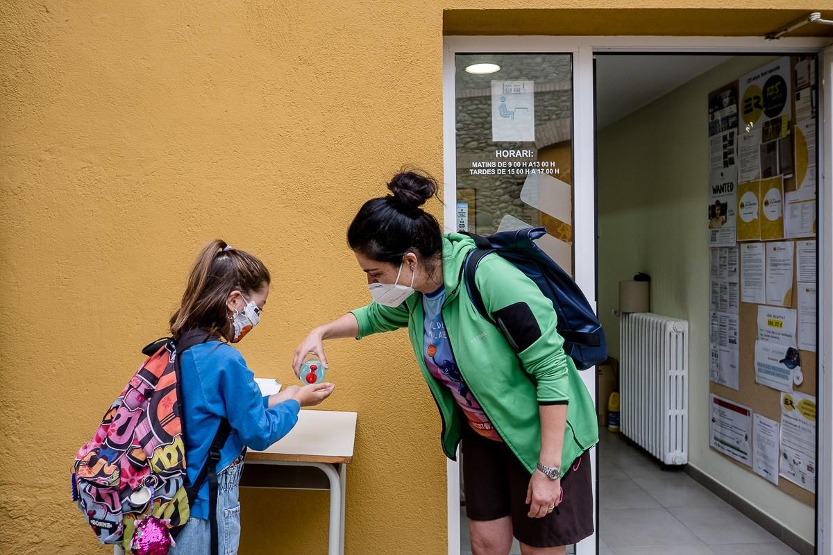 Alumnes d'una escola de Torelló