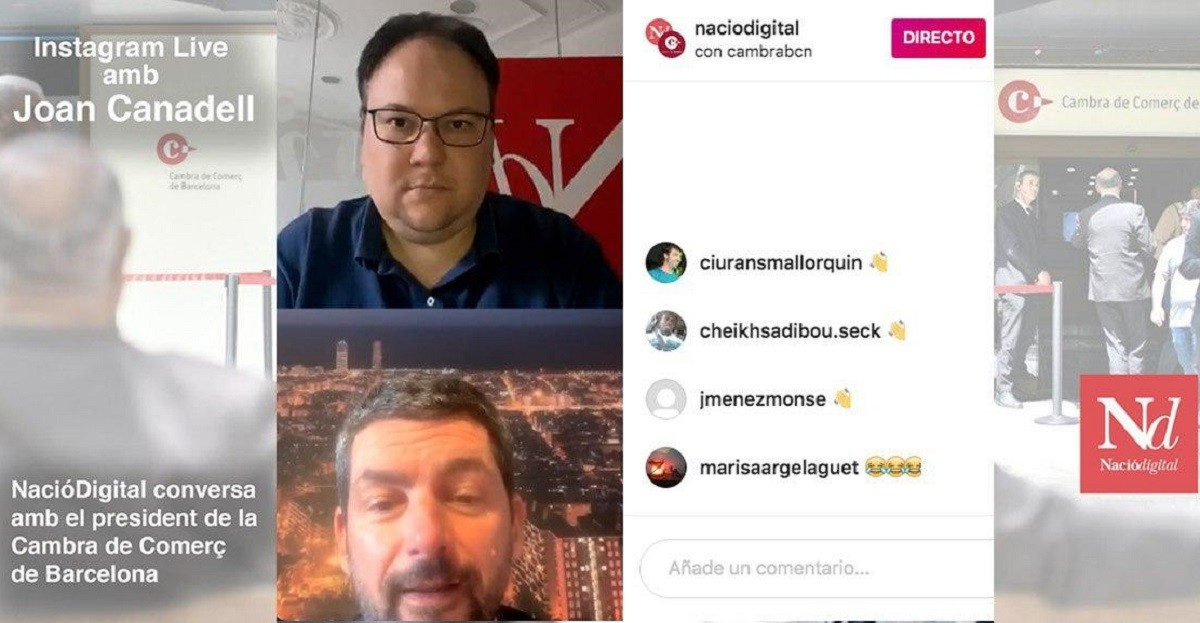 Instagram Live amb Joan Canadell.