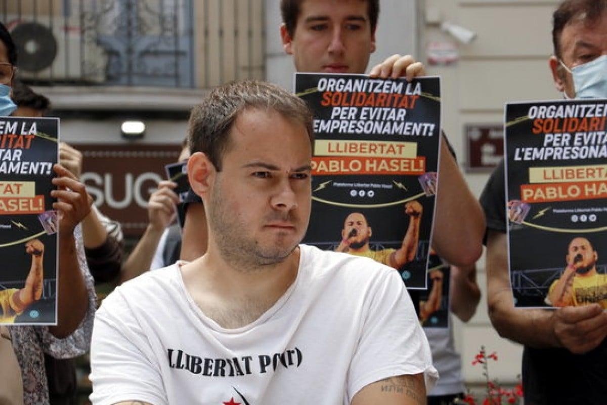 El raper lleidatà Pablo Rivadulla, conegut artísticament com a Pablo Hasel