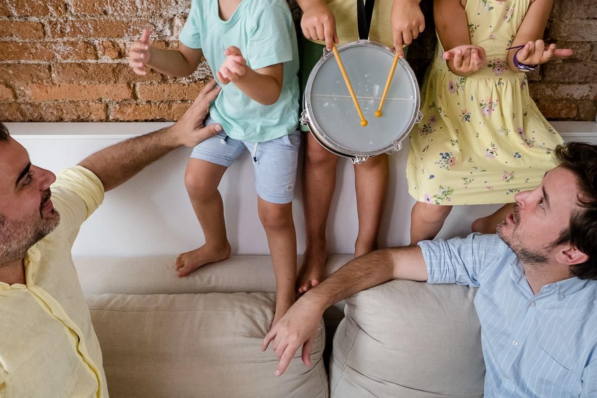 Jordi Ballart i Ignasi Sagalés, amb els seus tres fills