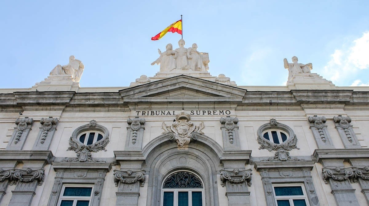 Façana de la seu del Tribunal Suprem, a Madrid.