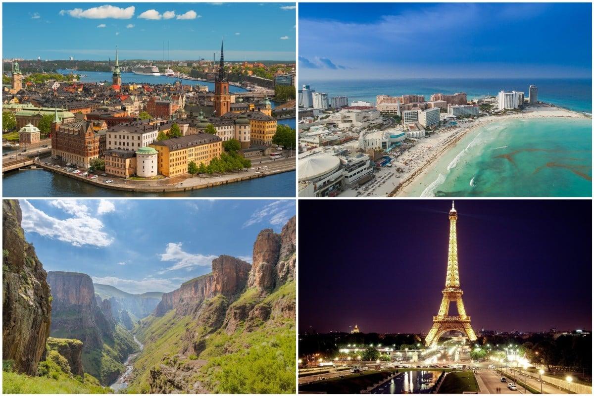 Països que accepten turistes de l'Estat.