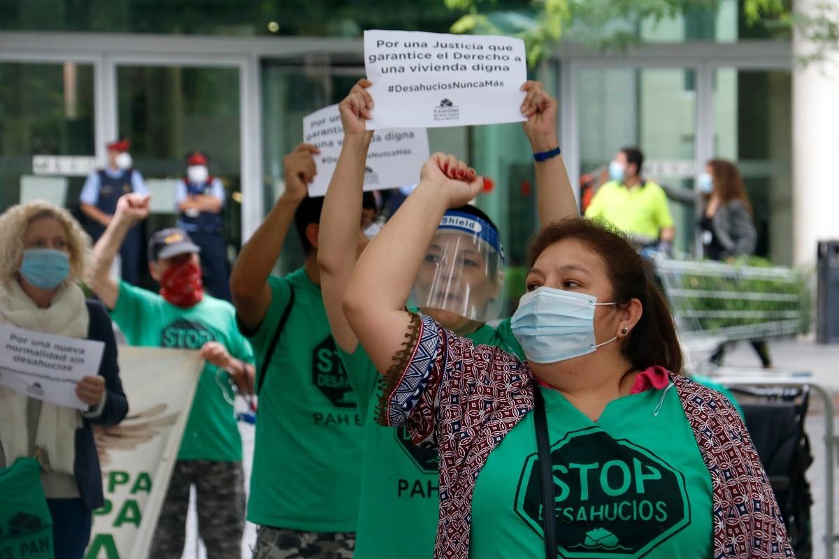 Protesta de la PAH en un desnonament