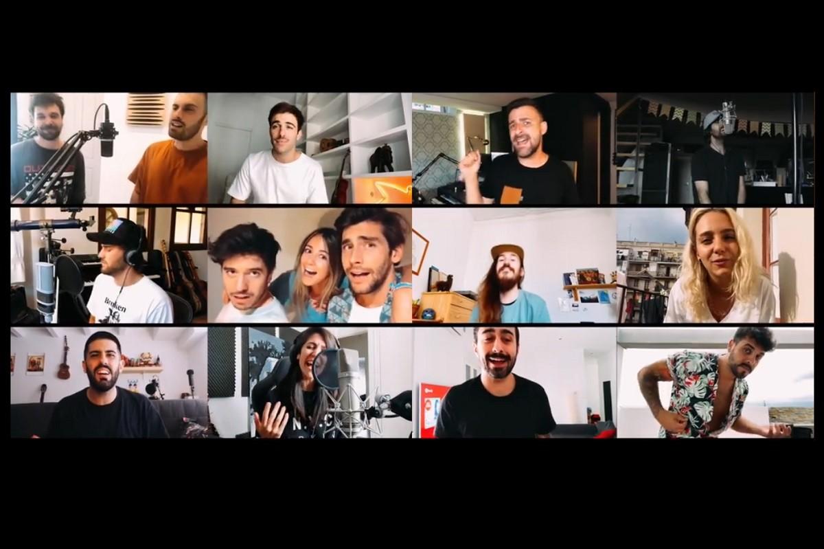 Quinze artistes canten «Grita»