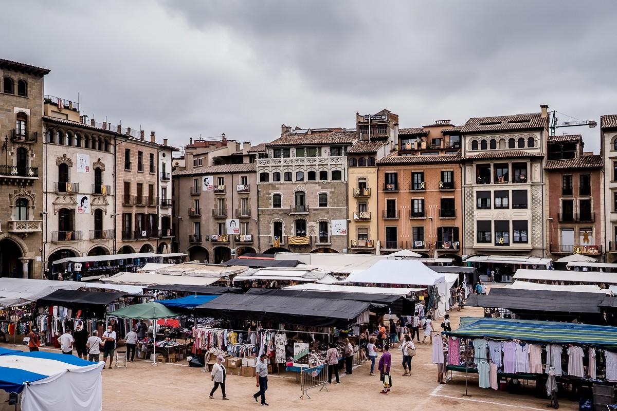 El mercat a la plaça de Vic, aquest dimarts