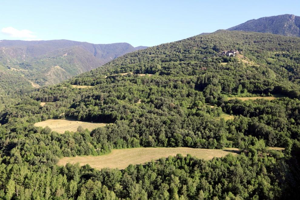 Paisatge a la Coma de Burg, dins el Parc Natural de l'Alt Pirineu