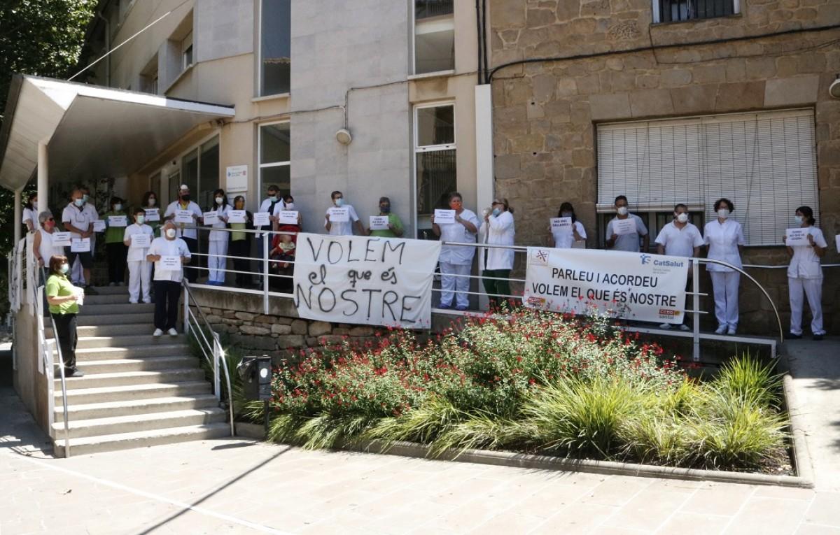 (Arxiu) Manifestació dels treballadors del Centre Sanitari del Solsonès