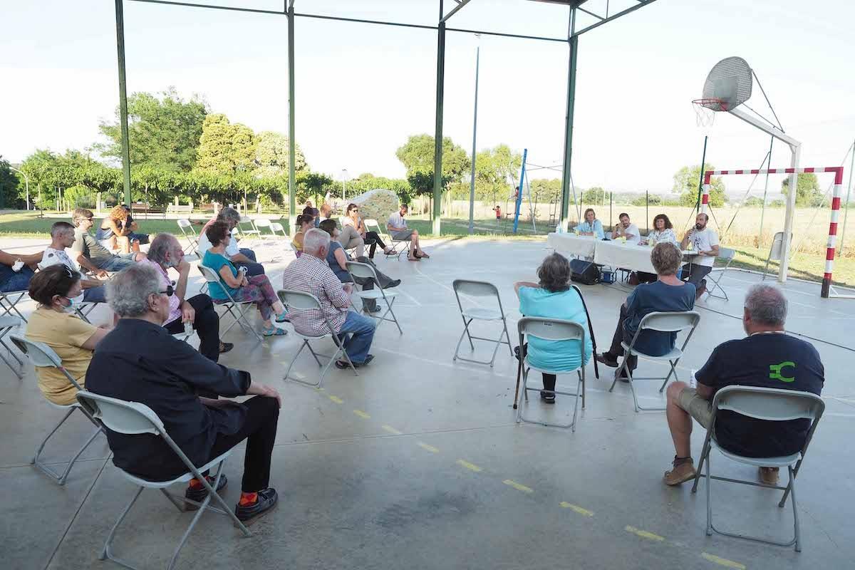 Un moment de la presentació del projecte al recinte esportiu de Rupià.