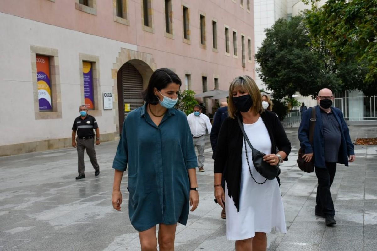 Reunió de l'equip de govern de la Diputació de Barcelona al CCCB
