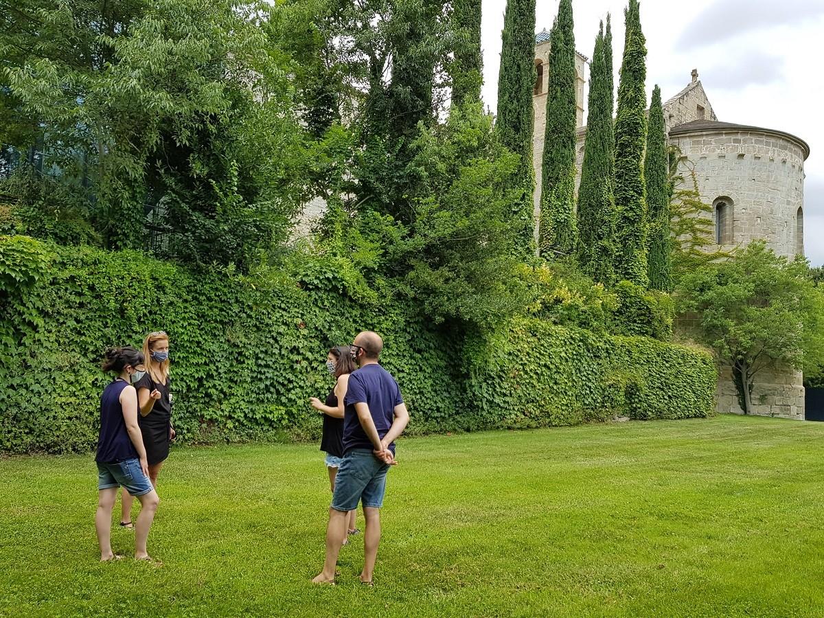 El jardí del monestir on es faran els tastos