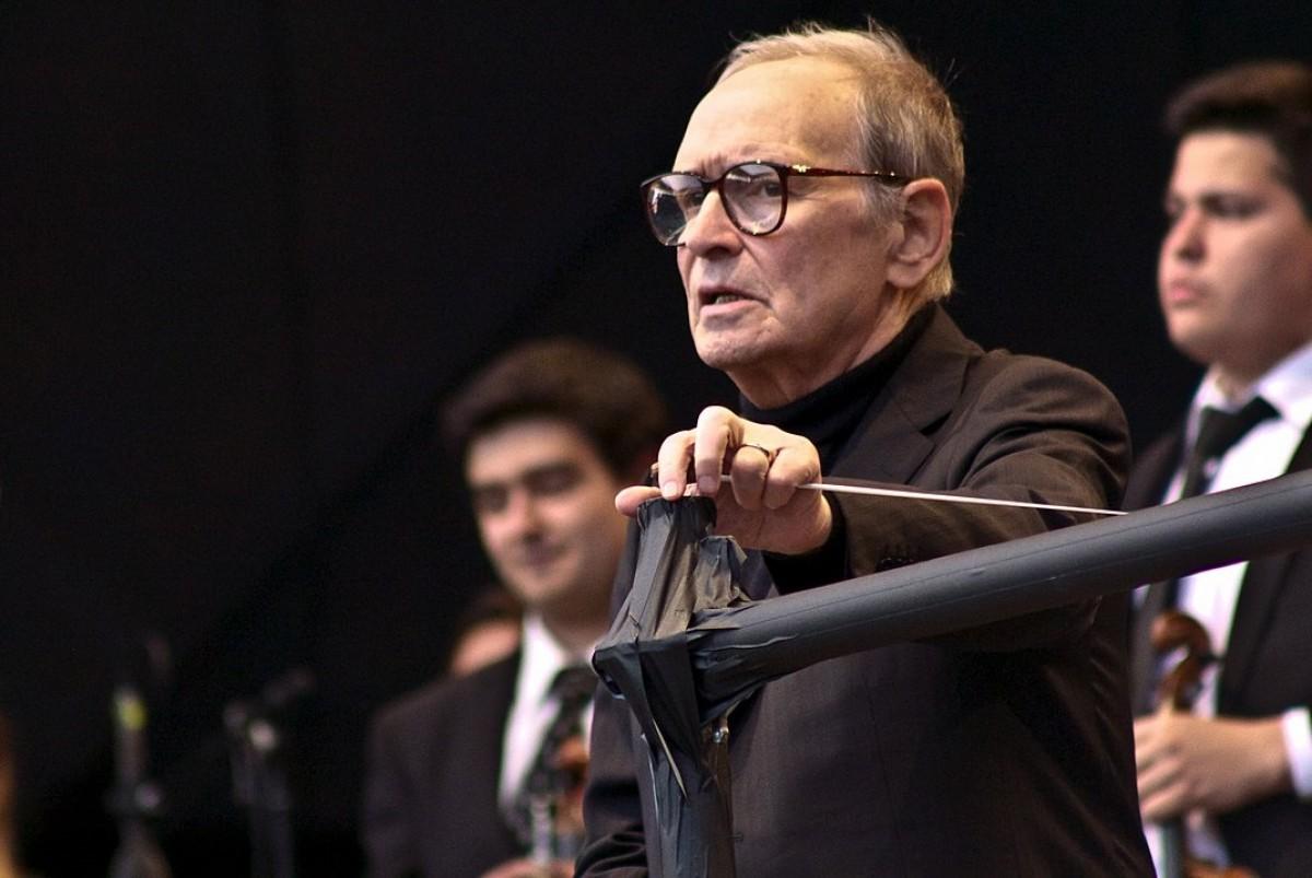 Ennio Morricone, en un concert el 2013