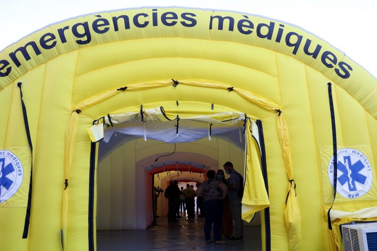 Hospital de campanya davant l'Arnau de Vilanova de Lleida