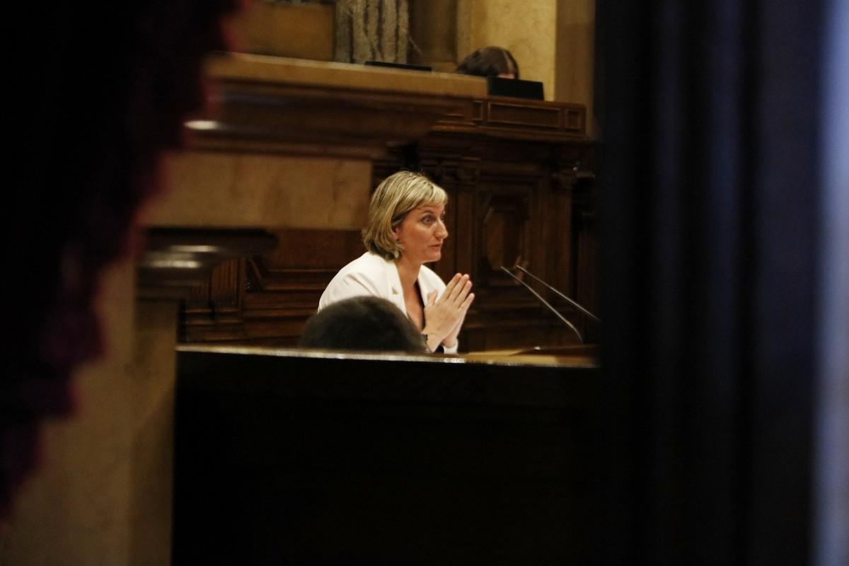 La consellera de Salut, Alba Vergés, al Parlament