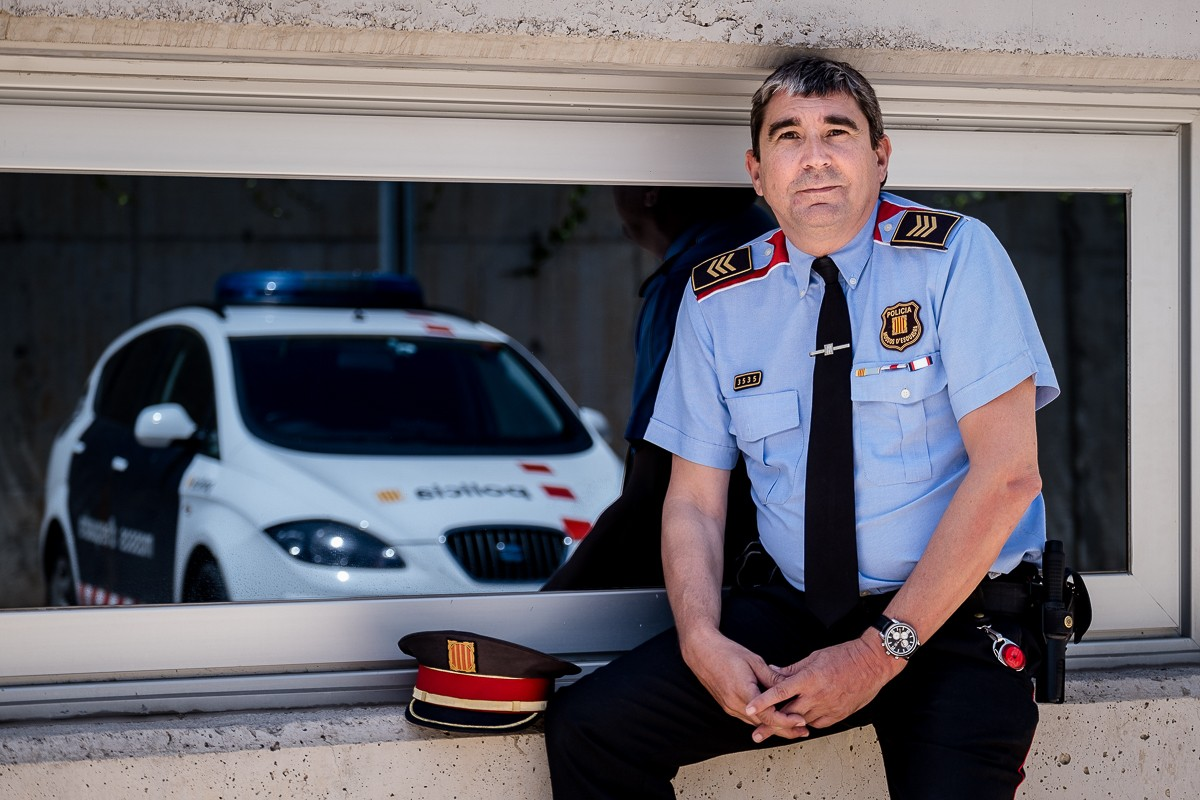 El sotsinspector Manel Rodríguez, a la comissaria de Sant Cugat