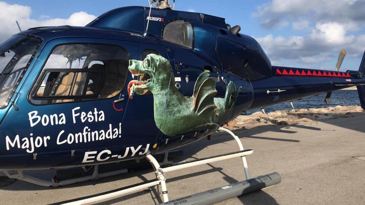 L'helicòpter que va substituir la Baixada del Drac.