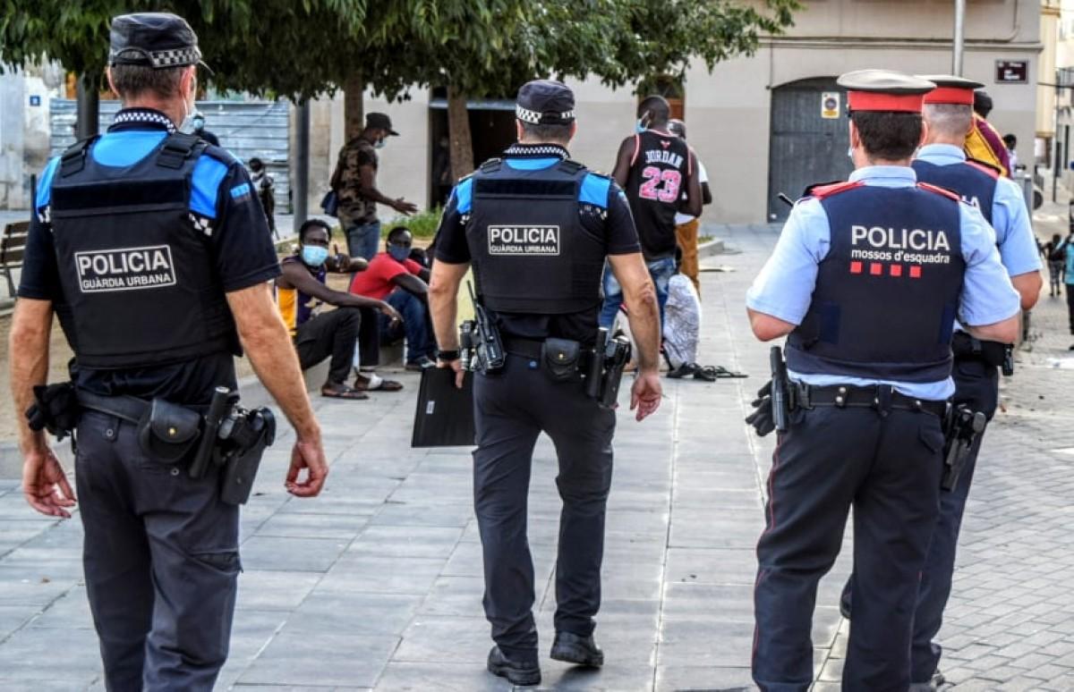 Una patrulla pels carrers de Lleida