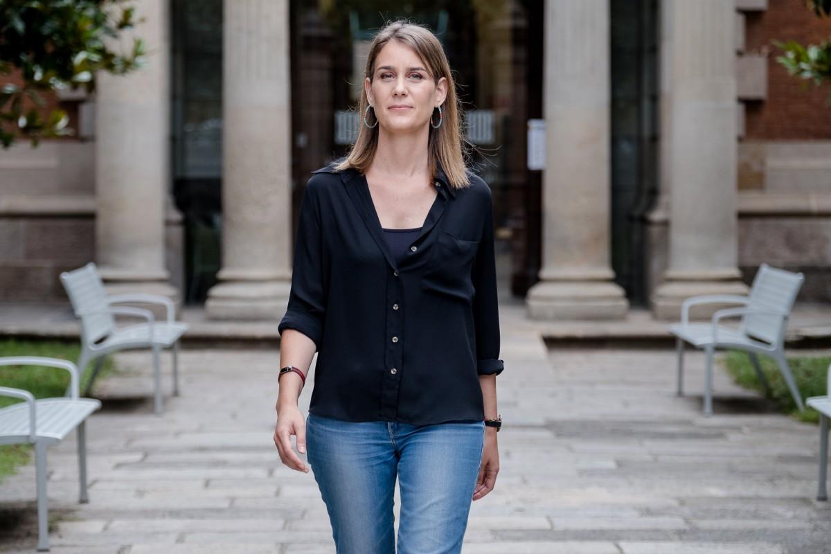 Jéssica Albiach, al pati del Parlament.