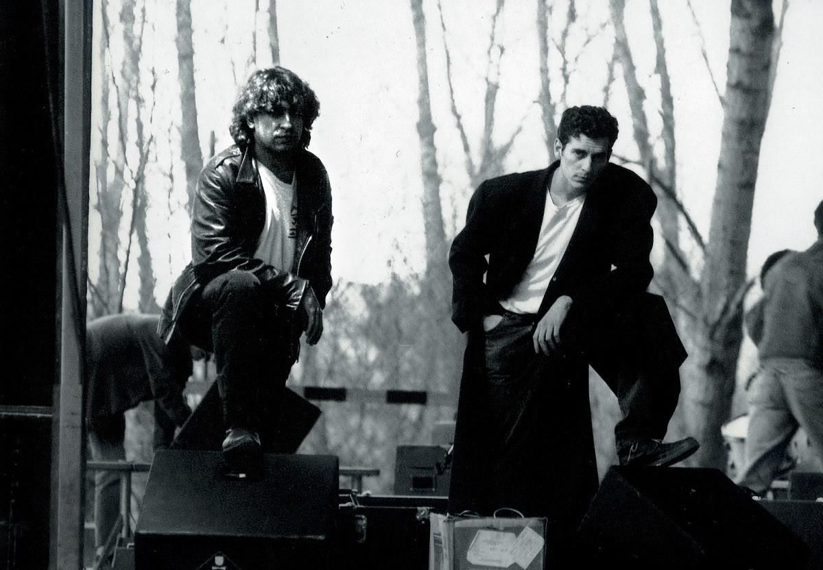 Pep Sala i Carles Sabater a la gira de l'any 1991 per presentar el disc Quina nit (Picap, 1990)