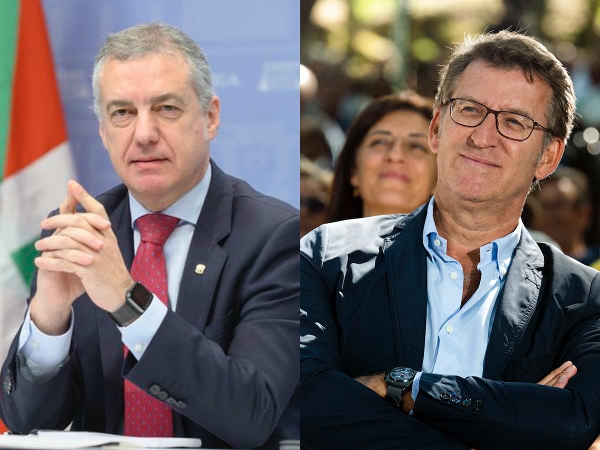 Urkullu i Feijóo, els dos grans guanyadors de la nit electoral al País Basc i Galícia.