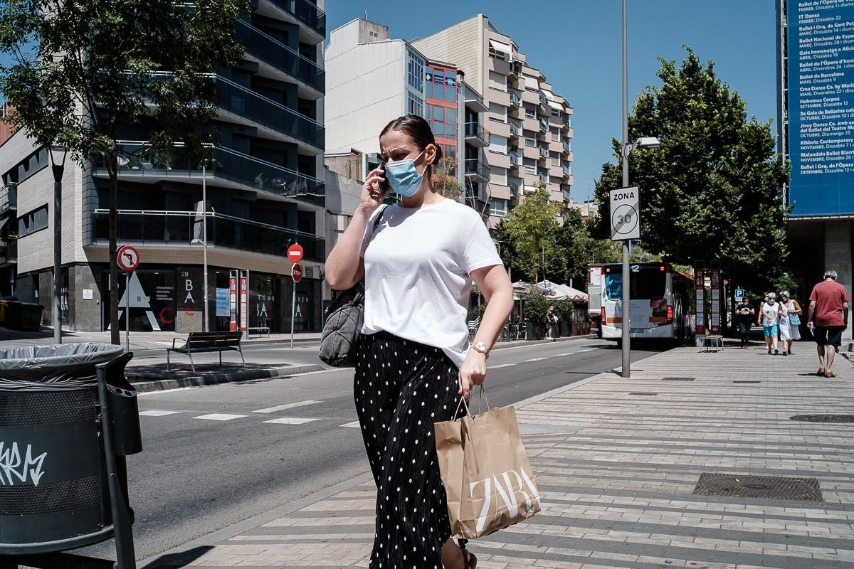 La mascareta és obligatòria als espais públics des del 9 de juliol.