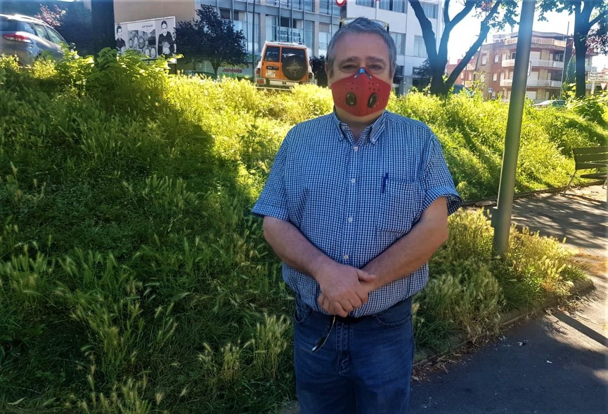 El cap de la unitat del grup de voluntaris de Protecció Civil de Cercs, Josep Maria Serrano.