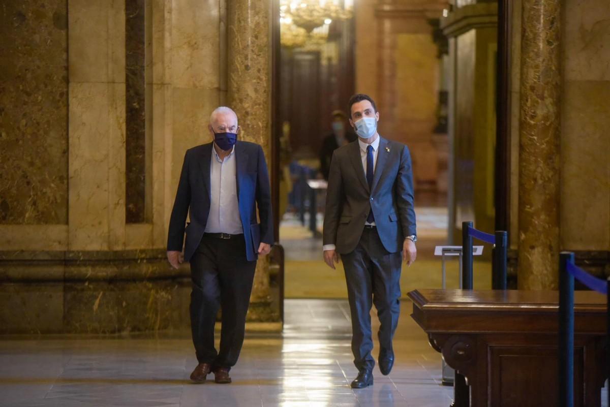 Roger Torrent i Ernest Maragall, aquest dimecres al Parlament