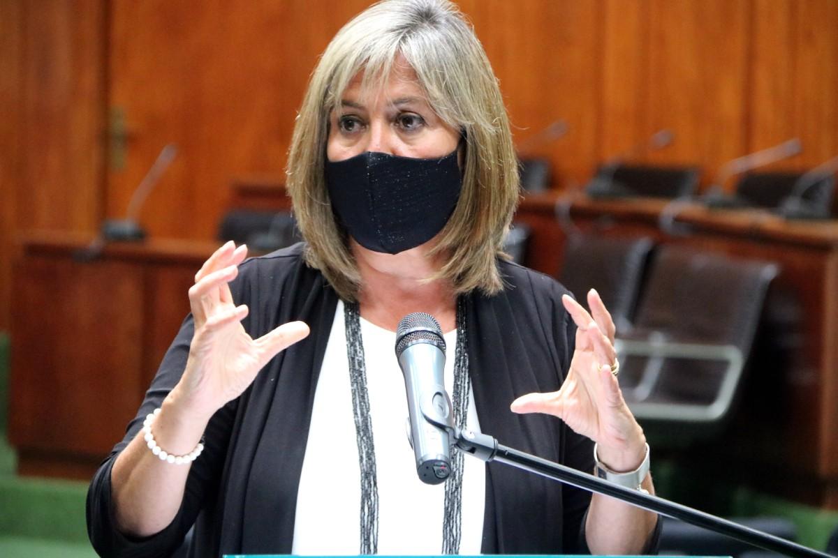 L'alcaldessa de l'Hospitalet, Núria Marín, en una compareixença recent.