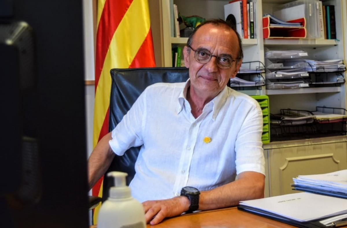 Miquel Pueyo, al seu despatx de la Paeria de Lleida