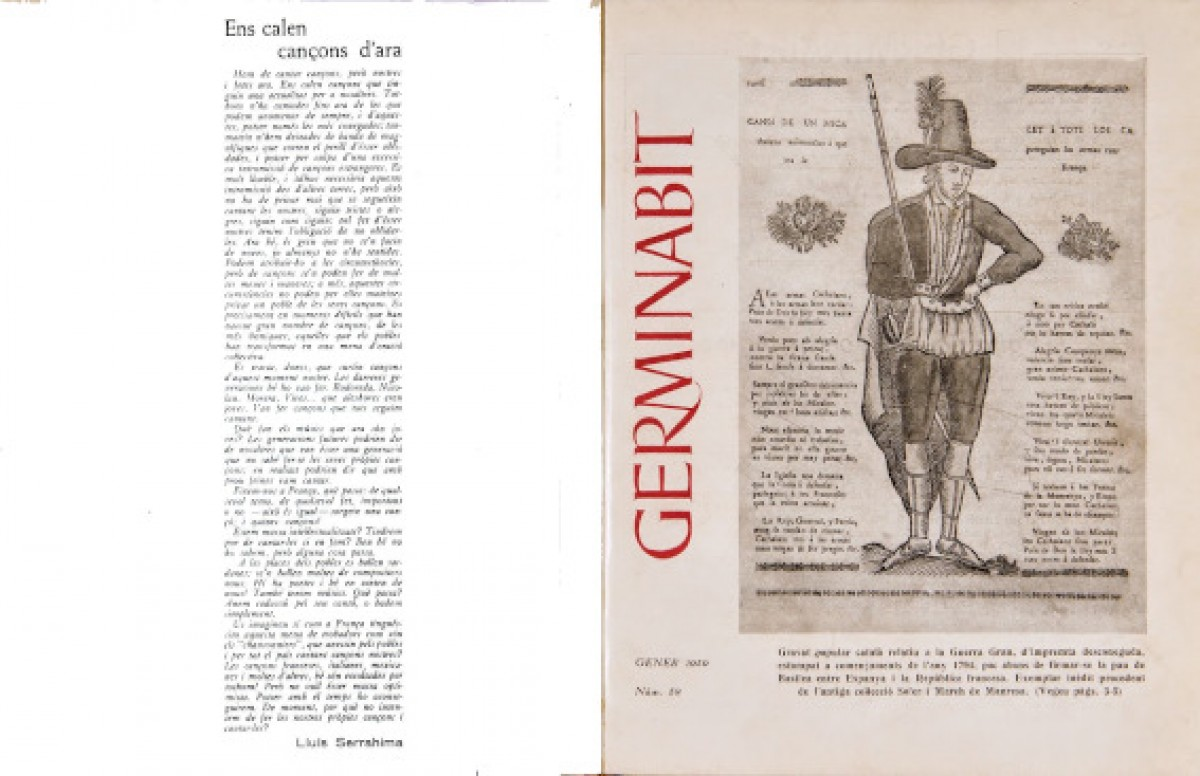 Portada de la revista 'Germinabit' i article de Lluís Serrahima