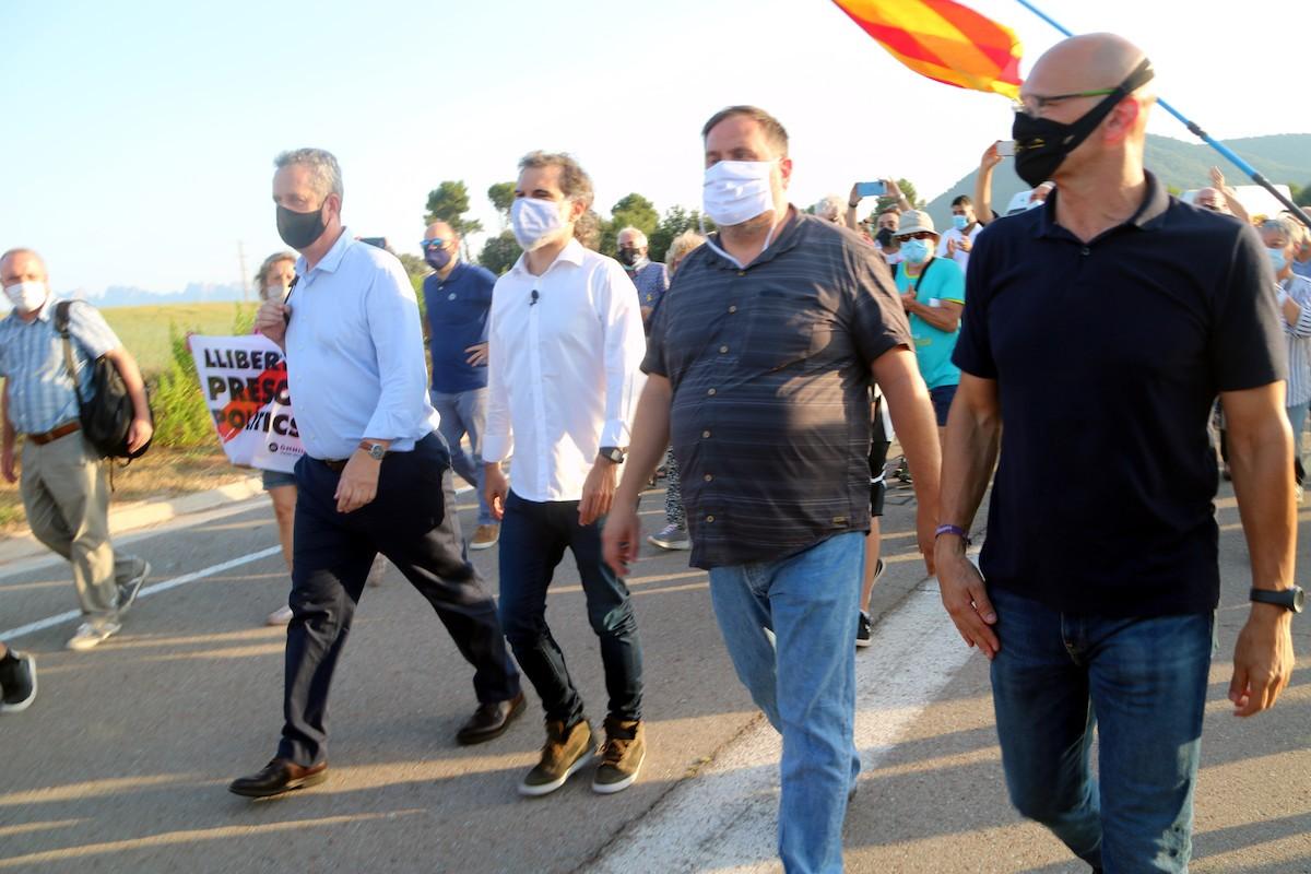 Els presos polítics, el dia que van tonrnar a la presó amb el tercer grau suspès