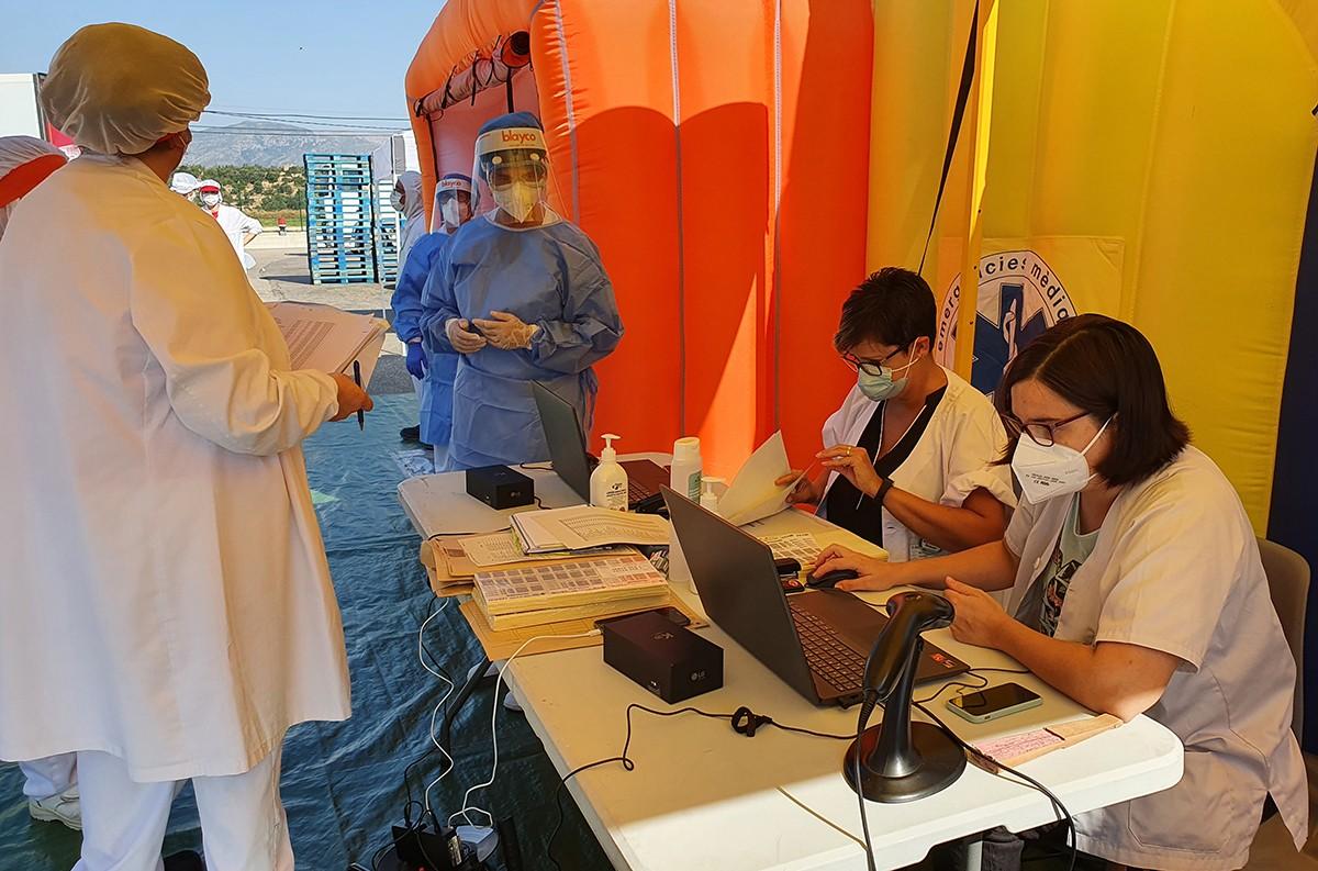 Àrees sanitàries mòbils on es realitzarà la recollida de mostres.