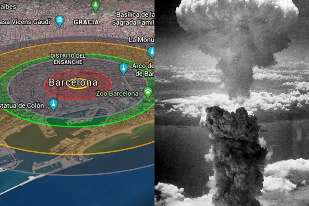 L'impacte d'una bomba atòmica com la d'Hiroshima a Barcelona