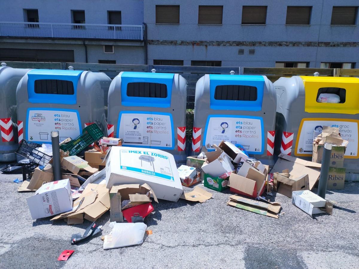 La zona de contenidors