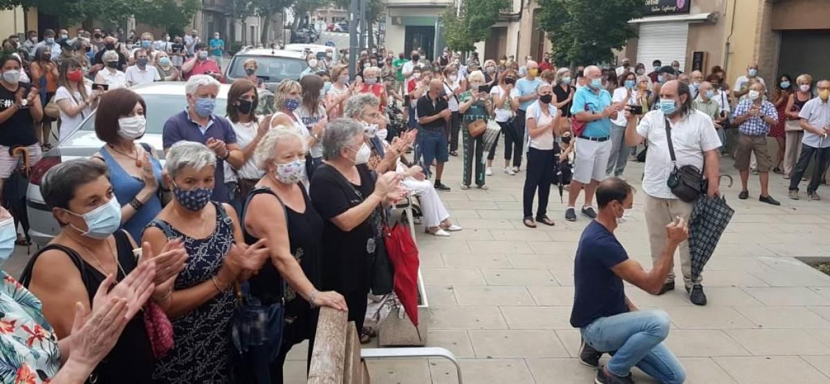 Desenes de persones han recordat el bisbe Casaldàliga a Balsareny