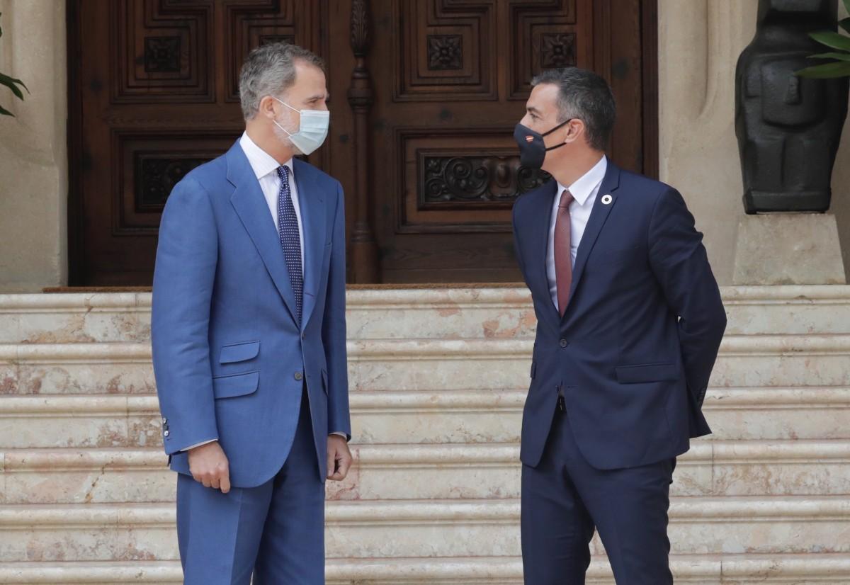Felip VI i Pedro Sánchez en una imatge d'arxiu