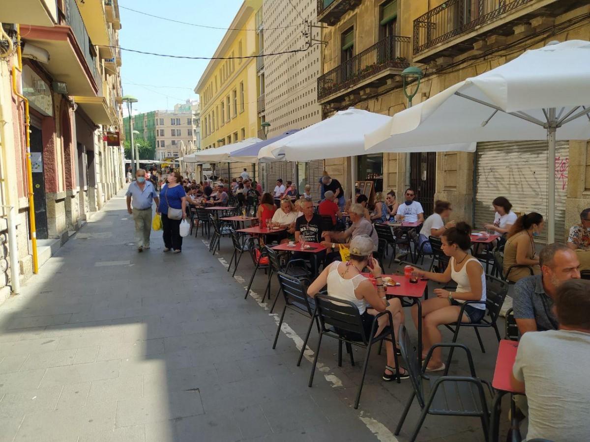 Les terrasses al carrer Lleida.