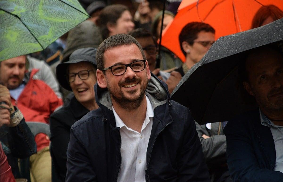 El portaveu de Guanyem a l'Ajuntament de Girona, Lluc Salellas