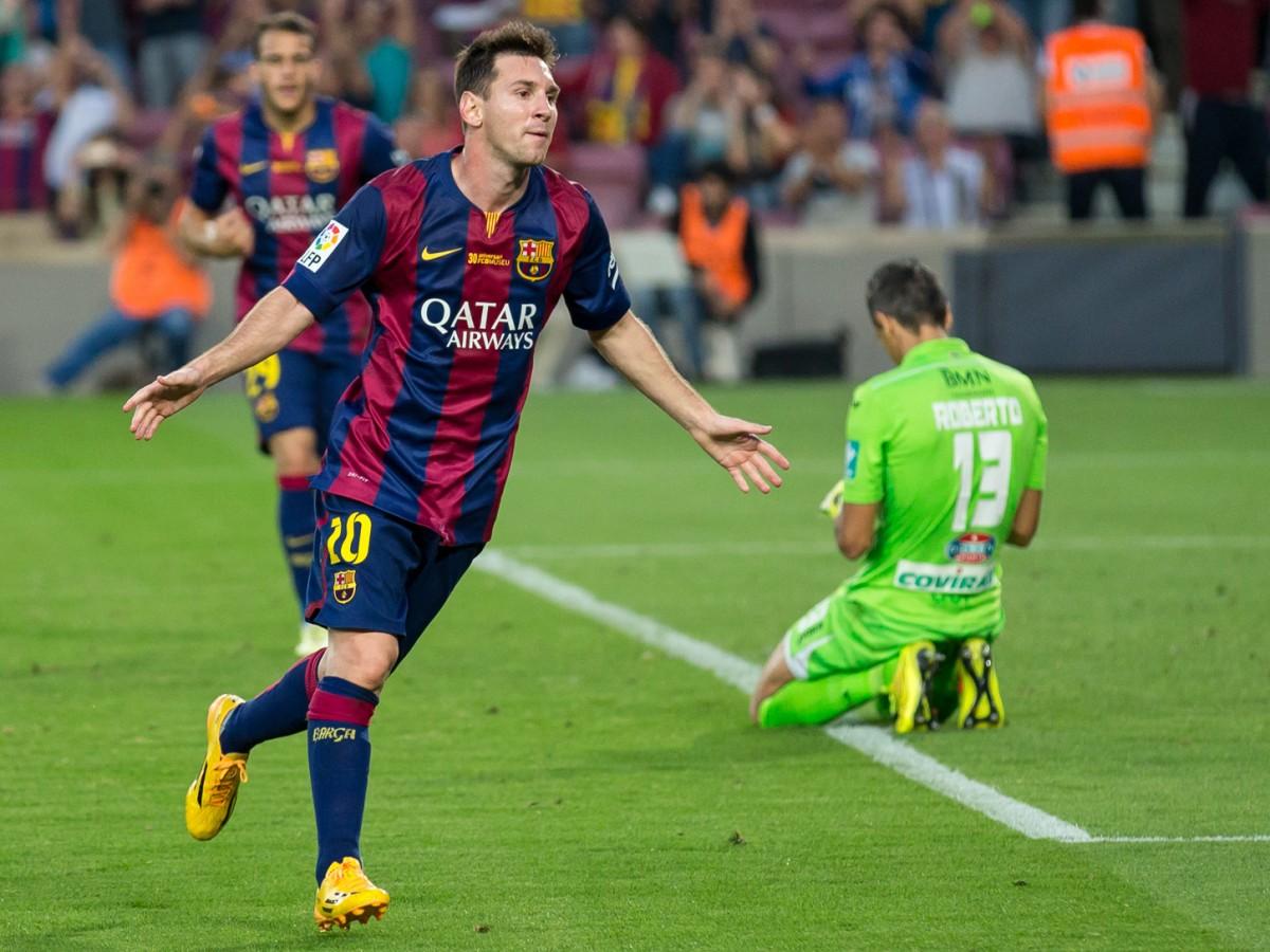 Messi després de marcar un gol
