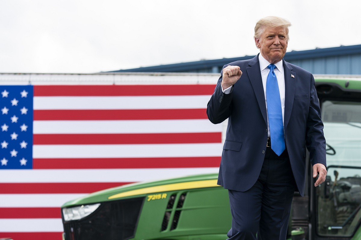 Donald Trump, en campanya.