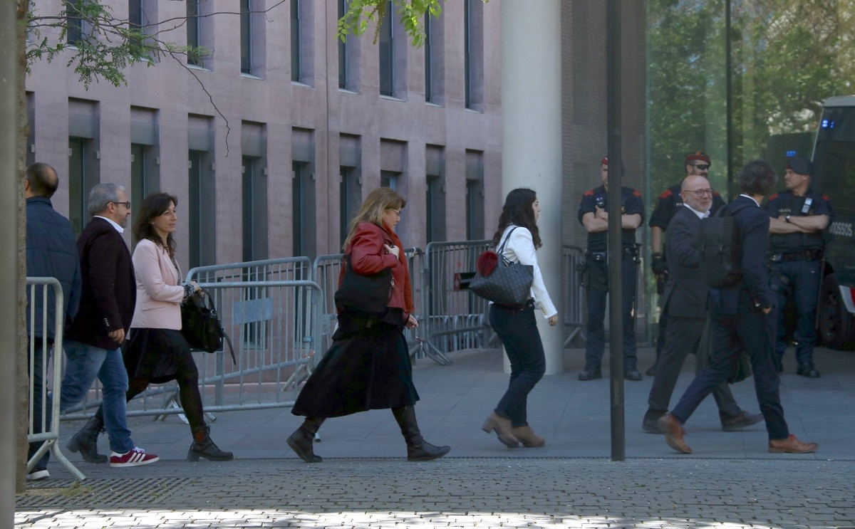 Alguns dels processats al jutjat 13 de Barcelona