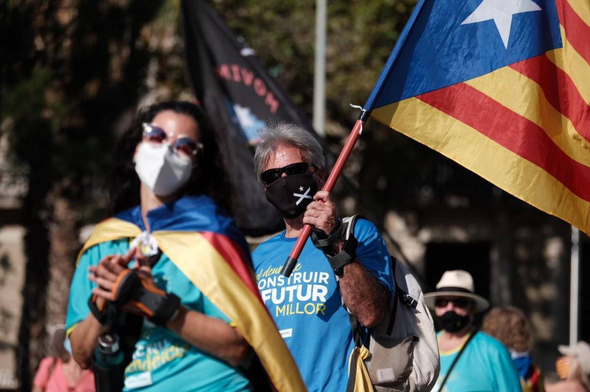 Manifestació de la Diada 2020 a Barcelona.