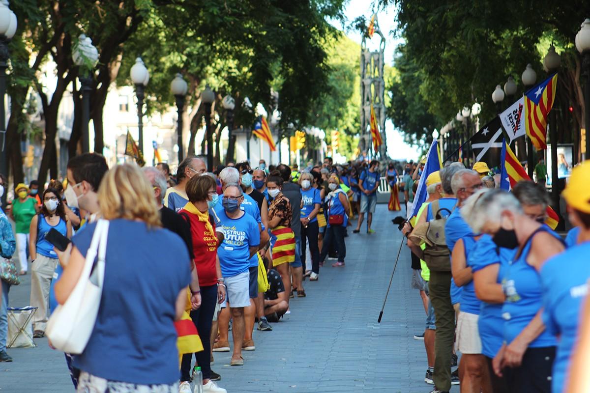 La Diada Nacional a Tarragona, organitzada per l'ANC, a la Rambla Nova.