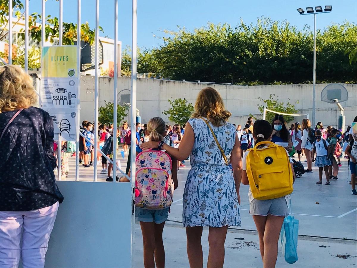 Primer dia d'escola a Sant Cugat.